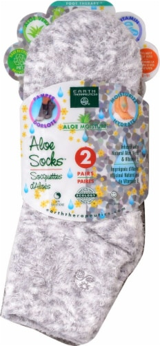 Earth Therapeutics Aloe Grey Spa Socks Perspective: front