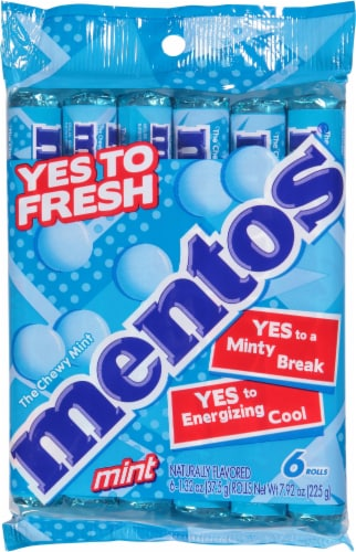 Mentos Mint Rolls Perspective: front
