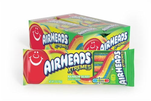 Airheads Rainbow Berry Xtremes Candy Perspective: front