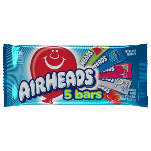 Airheads Assorted Flavors Candy Mini Bars Perspective: front