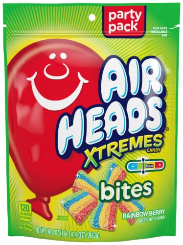 Airheads Xtremes Bites Rainbow Berry Candy Perspective: front