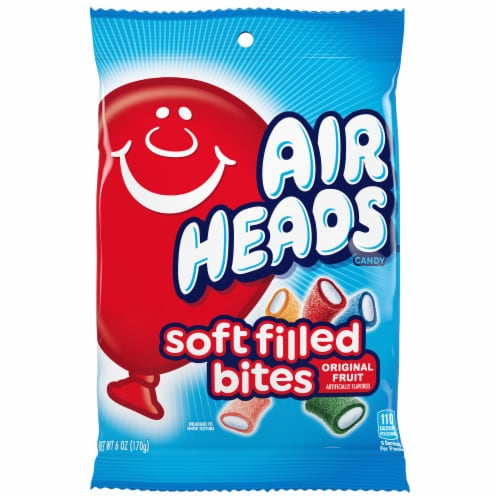 Airheads Soft Filled Bites Original Fruit Flavors Candy Perspective: front