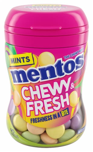 Mentos Chewy & Fresh Mixed Fruit Chewy Mints Perspective: front