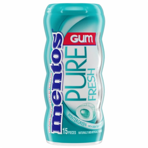 Mentos Pure Fresh Wintergreen Chewing Gum Perspective: front