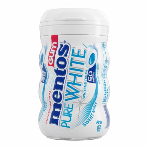 Mentos Pure White Sweet Mint Gum Perspective: front