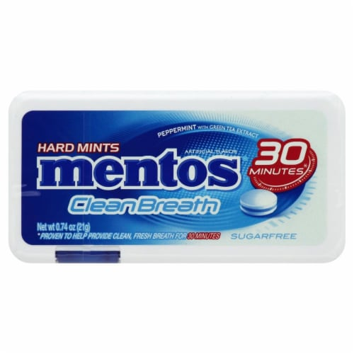 Mentos Clean Breath Peppermint Hard Mints Perspective: front