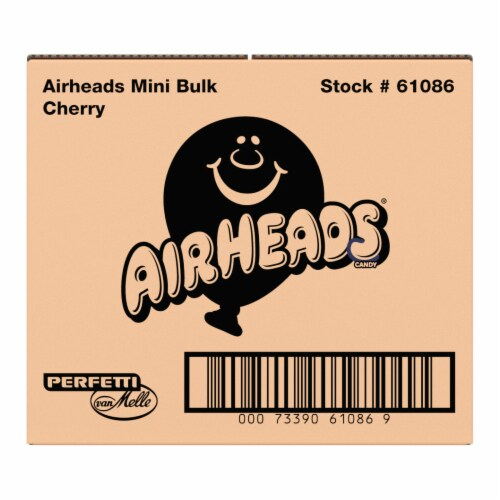 Airheads Red Cherry Flavor Mini Candy Bars Perspective: front