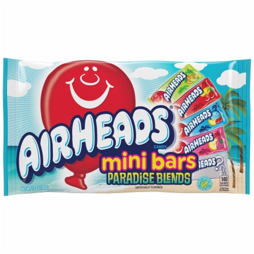 Airheads Paradise Blends Mini Bars Candy Perspective: front