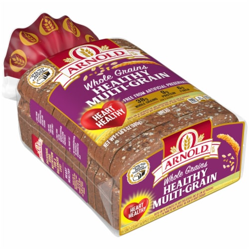 Arnold Whole Grains Healthy Multi-Grain Sliced Bread Perspective: front