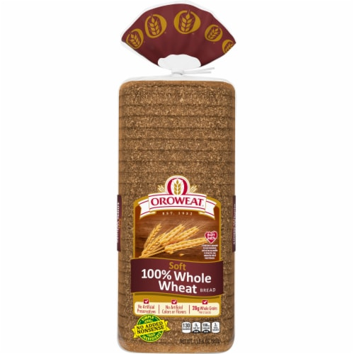 Oroweat 100% Whole Wheat Bread Perspective: front