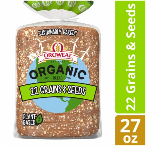 Oroweat Organic 22 Grains & Seeds Bread Perspective: front