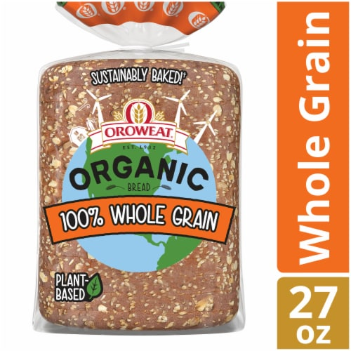 Oroweat Organic 100% Whole Grain Bread Perspective: front