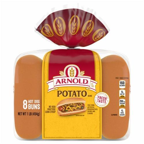 Arnold® Potato Hot Dog Buns Perspective: front