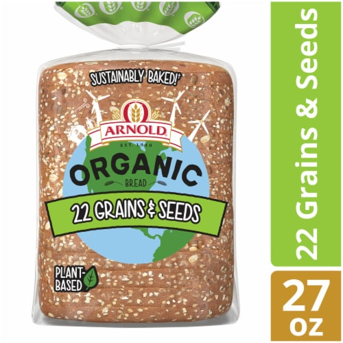 Arnold® Organic 22 Grains & Seeds Bread Perspective: front