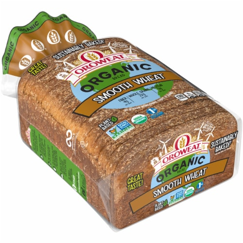 Oroweat Organic Smooth Wheat Bread Perspective: front