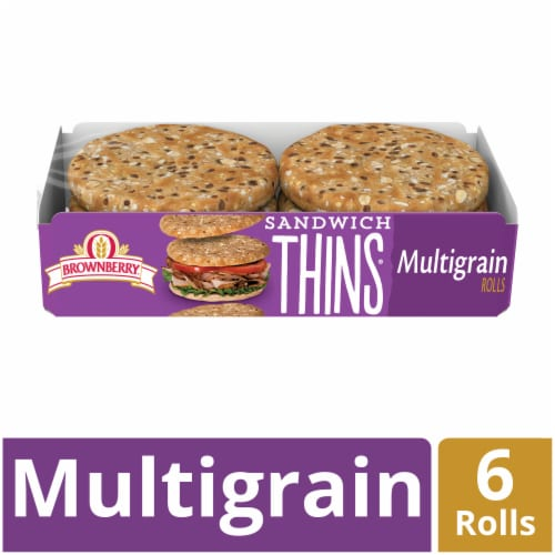 Brownberry Multigrain Sandwich Thins 6 Count Perspective: front