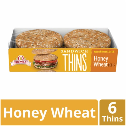 Oroweat Honey Wheat Sandwich Thins Perspective: front