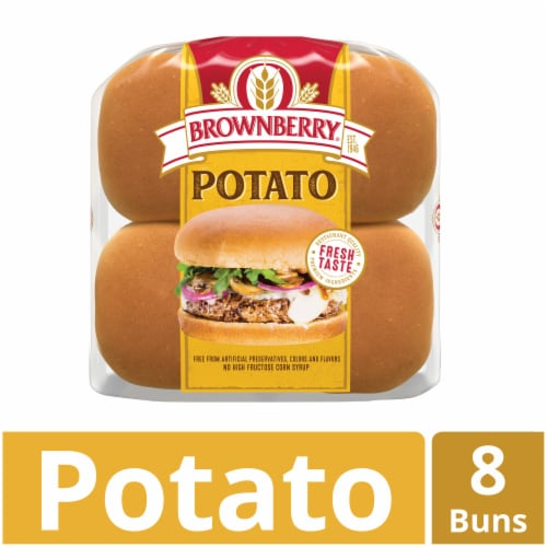 Brownberry Country Potato Sandwich Buns 8 Count Perspective: front