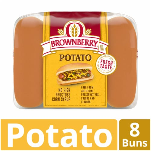 Brownberry Country Potato Hot Dog Buns 8 Count Perspective: front