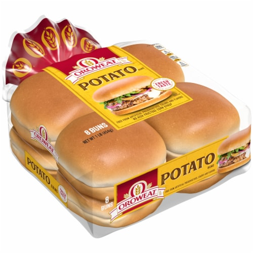 Oroweat Country Potato Sandwich Buns 8 Count Perspective: front