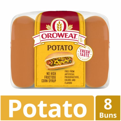 Oroweat Country Potato Hot Dog Buns 8 Count Perspective: front