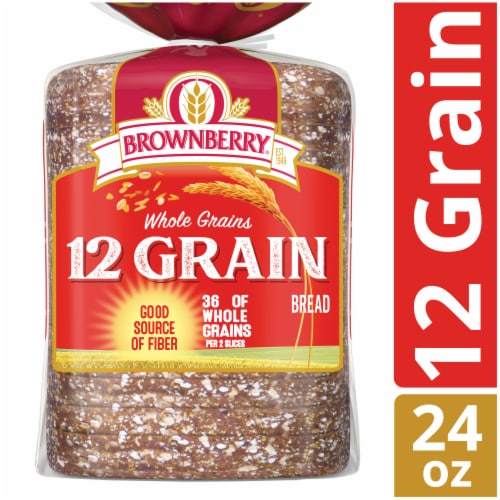 Brownberry Whole Grains 12 Grain Bread Perspective: front