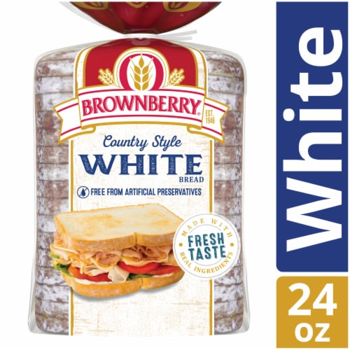 Brownberry Country White Bread Perspective: front