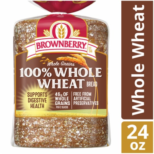 Brownberry Whole Grains 100% Whole Wheat Bread Perspective: front
