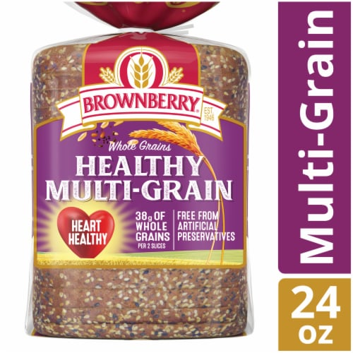 Brownberry Whole Grains Healthy Multi-Grain Bread Perspective: front