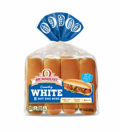 Brownberry® Country White Hot Dog Buns Perspective: front