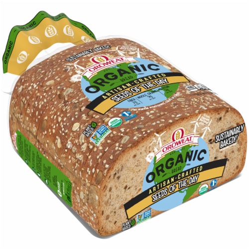 Oroweat Organic Open Faced Seeds The Day Bread Perspective: front