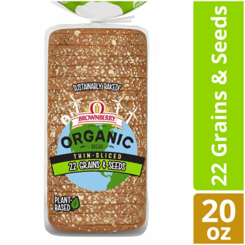 Brownberry Organic 22 Grains & Seeds Thin Sliced Bread Perspective: front