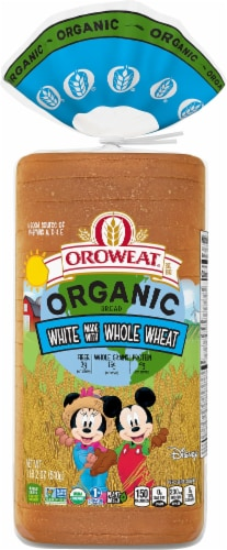 Oroweat Organic White Made with Whole Wheat Bread Perspective: front