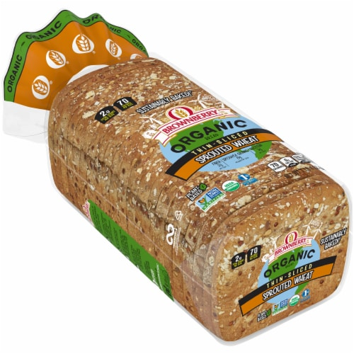 Brownberry Organic Thin-sliced Sprouted Wheat Bread Perspective: front
