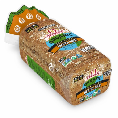 Oroweat Organic Thin-sliced Sprouted Wheat Bread Perspective: front