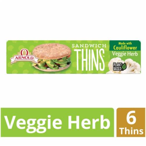 Arnold® Sandwich Thins Veggie Herb Rolls Perspective: front