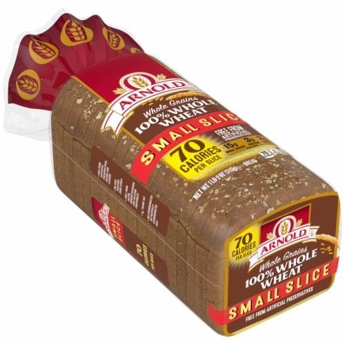 Arnold Small Slice 100% Whole Wheat Bread Perspective: front