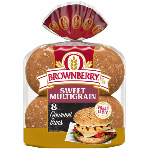 Brownberry® Restaurant Style Sweet Multigrain Hamburger Buns Perspective: front