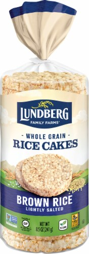 Lundberg Organic Lightly Salted Brown Rice Cakes Perspective: front
