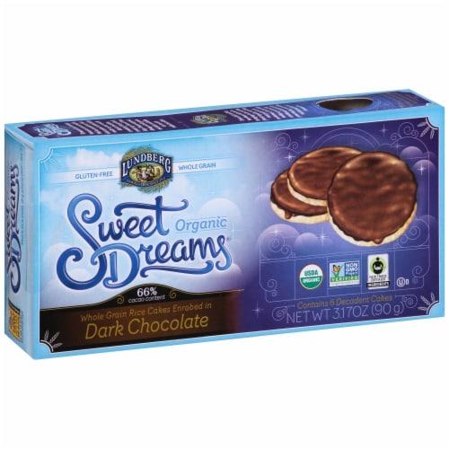 Lundberg Organic Sweet Dreams Dark Chocolate Rice Cakes Perspective: front
