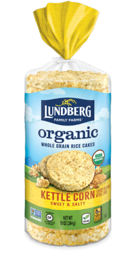 Lundberg Organic Kettle Corn Rice Cakes Perspective: front