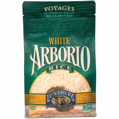 Lundberg White Gluten Free Arborio Rice Perspective: front
