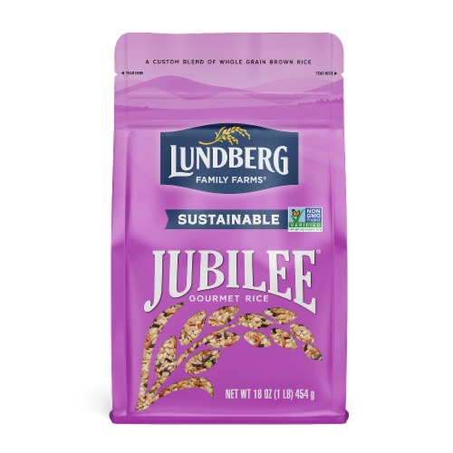 Lundberg Jubilee Whole Grain Brown Rice Perspective: front