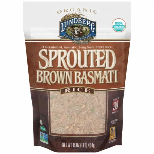 Lundberg Organic Sprouted Brown Basmati Rice Perspective: front