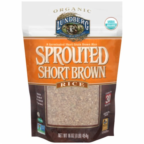 Lundberg Organic Sprouted Short Brown Rice Perspective: front