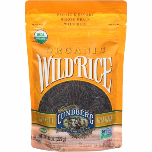 Lundberg Organic Whole Grain Wild Rice Perspective: front