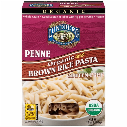 Lundberg Organic Brown Rice Penne Pasta Perspective: front