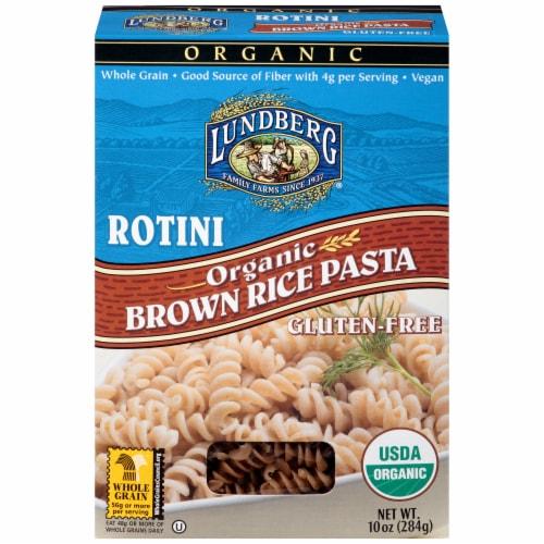 Lundberg Organic Rotini Brown Rice Pasta Perspective: front