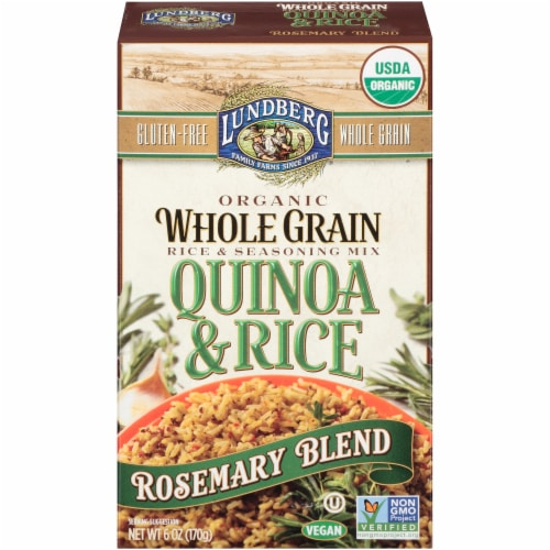Lundberg Organic Rosemary Whole Grain Quinoa & Rice Blend Perspective: front