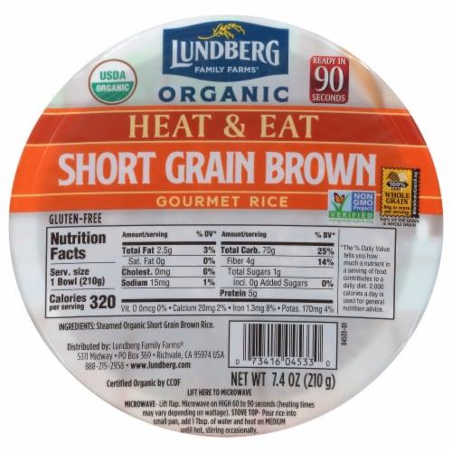 Lundberg Organic Short Grain Brown Rice Bowl Perspective: front